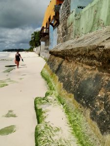 Barbados - Walking along Oistens Beach